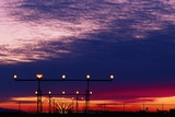 Runway Lights At Vancouver Airport Photographic Print by David Nunuk