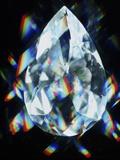 Cut And Polished Diamond Photographic Print by  PASIEKA