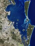 Brisbane, Australia, Satellite Image Poster by  PLANETOBSERVER