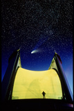 Telescope & Comet Hale-Bopp Photographic Print by David Nunuk