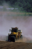 View of a Tractor Spreading Lime Photographic Print by David Nunuk
