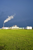 Corn Ethanol Processing Plant Photographic Print by David Nunuk
