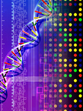 DNA Microarray And Double Helix Photographic Print by  PASIEKA