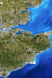 True-colour Satellite Image of Southeast England Prints by  PLANETOBSERVER