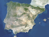 Satellite Image of Spain And Portugal Photographic Print by  PLANETOBSERVER