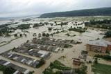 Ukraine Flooding, July 2008, Aerial View Poster by Ria Novosti