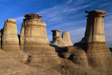 Earth Pillars (hoodoos) In Alberta Badlands Canada Prints by David Nunuk