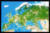 True Colour Satellite Image of Europe Photographic Print by  PLANETOBSERVER