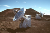 SubMillimetre Array Telescopes Photographic Print by Magrath Photography