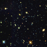 HST Deep-view of Several Very Distant Galaxies Premium Photographic Print