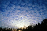 Mackerel Sky Altocumulus Clouds Poster by Pekka Parviainen