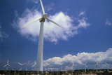 Wind Turbines At Power Station, Hawaii Photographic Print by David Nunuk
