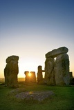 Stonehenge At Sunrise Photographic Print by David Nunuk