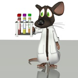 Laboratory Mouse, Conceptual Artwork Photographic Print by Friedrich Saurer