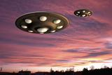 UFO Landing, Computer Artwork Photographic Print by Friedrich Saurer