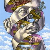 DNA In All Living Things, Artwork Fotoprint van Bill Sanderson
