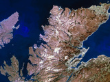 True-colour Satellite Image of Northern Scotland Posters by  PLANETOBSERVER