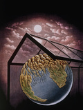 Illustration of the Greenhouse Effect Photographic Print by Bill Sanderson