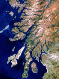 True-colour Satellite Image of Western Scotland Poster by  PLANETOBSERVER