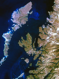True-colour Satellite Image of Northwest Scotland Print by  PLANETOBSERVER