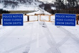 Road Closed Due To Snow Drifts Prints by Duncan Shaw