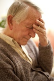 Depressed Senior Man Poster by Science Photo Library