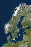 Scandinavia Fotografisk tryk af  PLANETOBSERVER