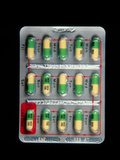 Foil Pack of Prozac Pills Photographic Print by Damien Lovegrove