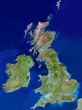 British Isles, Satellite Image Photographic Print by  PLANETOBSERVER