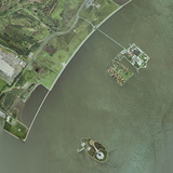 Ellis And Liberty Islands, Aerial Image Photographic Print by Getmapping Plc