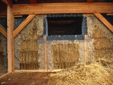Straw Bale House Photographic Print by Alan Sirulnikoff