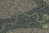 Flood Risk In London, Satellite Image Photographic Print by Getmapping Plc