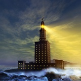 Pharos Lighthouse of Alexandria, Artwork Photographic Print by Studio Macbeth