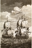 Anson's Spanish Galleon Capture, 1743 Print by Middle Temple Library
