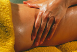 Woman Being Given An Aromatherapy Massage Photographic Print by Damien Lovegrove