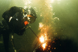 Welding Underwater Photographic Print by Peter Scoones