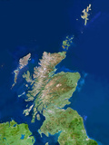 Scotland, UK, Satellite Image Photographic Print by  PLANETOBSERVER