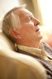 Senior Man Napping Print by Science Photo Library