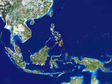 Southeast Asia, Satellite Image Photographic Print by  PLANETOBSERVER