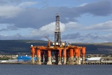 Oil Drilling Rig, North Sea Posters by Duncan Shaw
