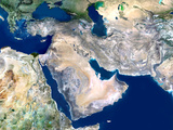 Middle East, Satellite Image Premium Photographic Print by  PLANETOBSERVER