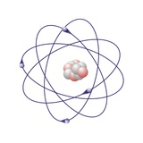 Beryllium, Atomic Model Fotografisk tryk af Friedrich Saurer