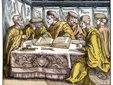 Humanist Scholars In Debate, 16th Century Prints by Middle Temple Library