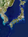 Japan And Korea, Satellite Image Posters by  PLANETOBSERVER