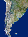 Chile And Argentina, Satellite Image Posters by  PLANETOBSERVER