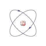 Helium, Atomic Model Fotografisk tryk af Friedrich Saurer