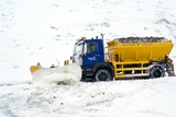 A Snow Plough Clearing a Road Photographic Print by Duncan Shaw