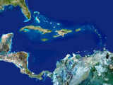 Caribbean, Satellite Image Photo by  PLANETOBSERVER