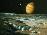 Artist's Impression of Jupiter Over Europa Photographic Print by Ludek Pesek