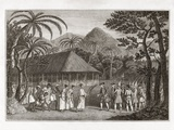 Captain Wallace And Tahitians, 1767 Premium Photographic Print by Middle Temple Library